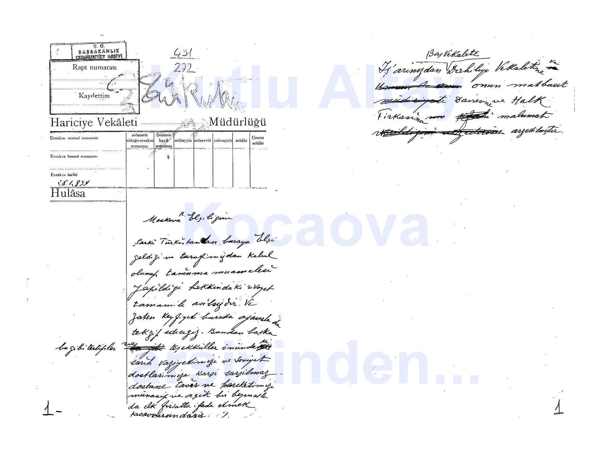 dogu turkistan belgeler3 Doğu Türkistan Yalnızlığı