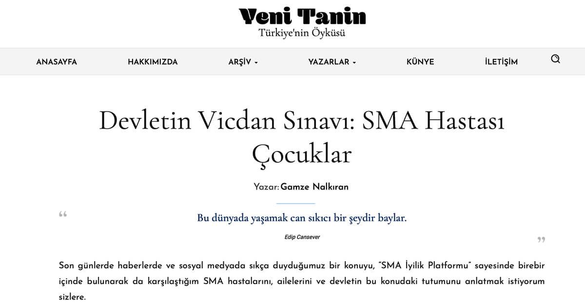 Devletin Vicdan Sınavı: SMA Hastası Çocuklar