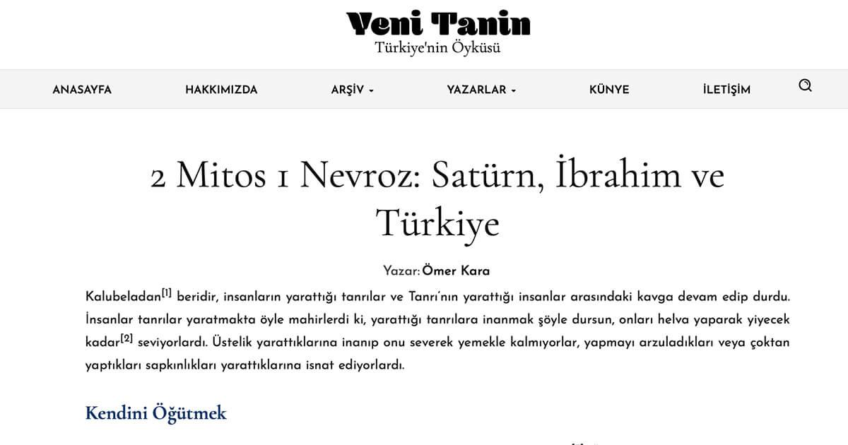 2 Mitos 1 Nevroz: Satürn, İbrahim ve Türkiye