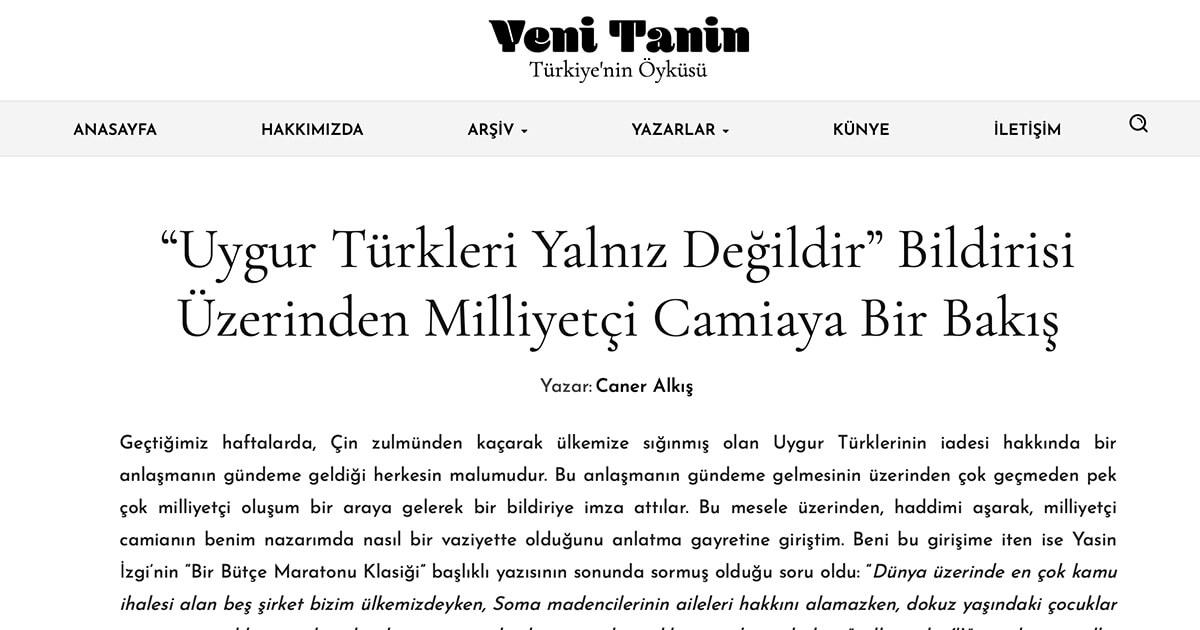 Uygur Türkleri - Doğu Türkistan