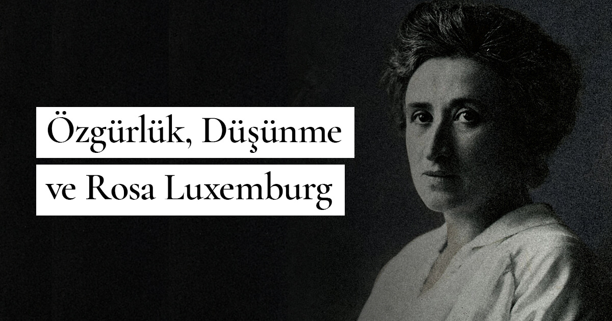 Özgürlük, Düşünme ve Rosa Luxemburg